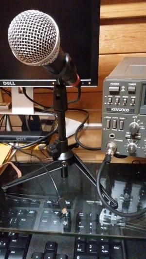 カラオケ用マイクを、無線機用にコネクター交換、、 2